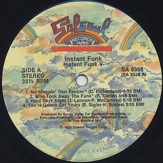Instant Funk / Instant Funk V label