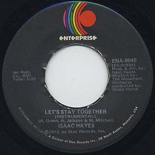 Isaac Hayes / Let's Stay Together c/w Soulsville