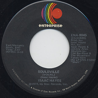 Isaac Hayes / Let's Stay Together c/w Soulsville back