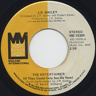 J.R. Bailey / The Entertainer c/w You Pass My Love