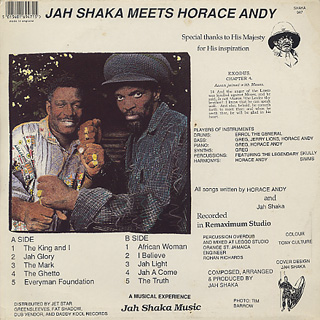 Jah Shaka Meets Horace Andy / S.T. back