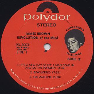James Brown / Revolution Of The Mind label
