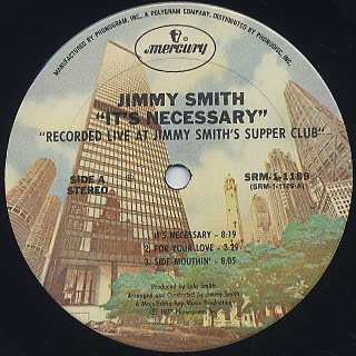 Jimmy Smith / It's Necessary label
