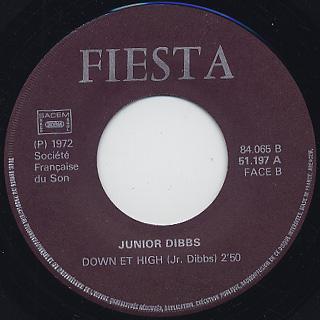 Jr. Dibbs / Hot Thing c/w Down Et High label