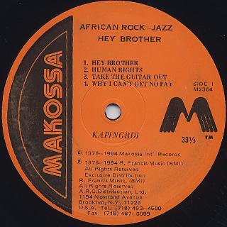 Kapingbdi / Hey Brother label