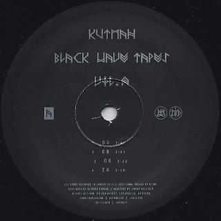 Kutmah / Black Wave Tapes Vol.2 label
