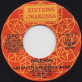 Lafayette Afro-Rock Band / Voodounon c/w Oglenon back