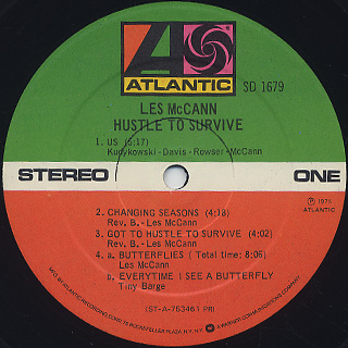 Les McCann / Hustle To Survive label