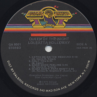 Loleatta Holloway / Queen Of The Night label