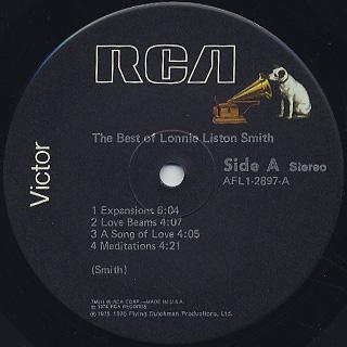 Lonnie Liston Smith / The Best Of Lonnie Liston Smith label