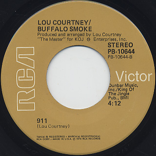 Lou Courtney / Call The Police c/w 911 back