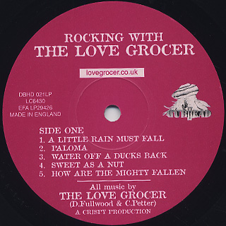 Love Grocer / Rocking With The Love Grocer label