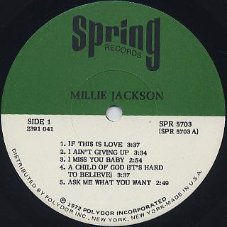 Millie Jackson / S.T. label