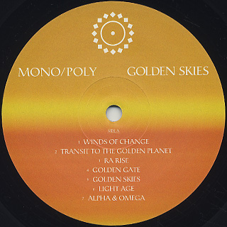 Mono/Poly / Golden Skies label