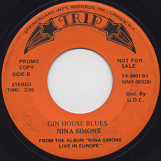 Nina Simone / Don't Let Me Be Misunderstood c/w Gin House Blues back