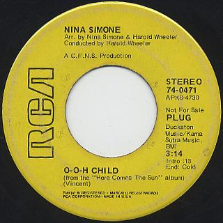 Nina Simone / O-o-o Child c/w New World Coming