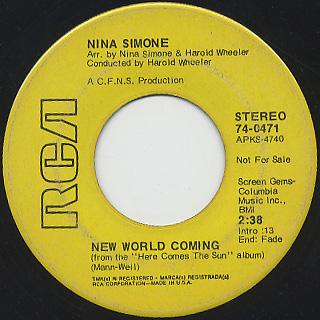 Nina Simone / O-o-o Child c/w New World Coming back