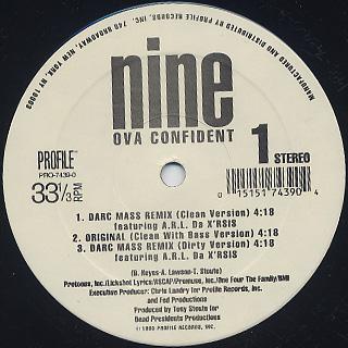 Nine / Ova Confident / Famaldahyde back