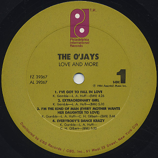 O'Jays / Love And More label