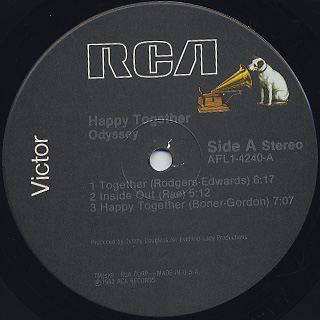 Odyssey / Happy Together label
