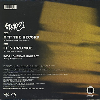 Promoe / Off The Record back