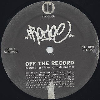 Promoe / Off The Record label