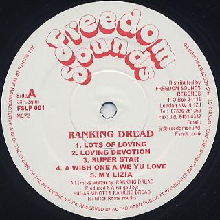 Ranking Dread / Lots Of Loving label