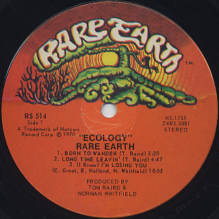 Rare Earth / Ecology label