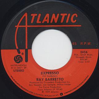 Ray Barretto / Numero Uno c/w Expresso