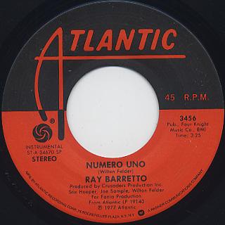 Ray Barretto / Numero Uno c/w Expresso back