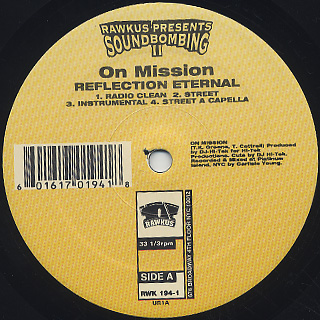 Reflection Eternal / On Mission , Shabaam Sahdeeq Featuring The Cocoa Brovaz / Every Rhyme I Write label