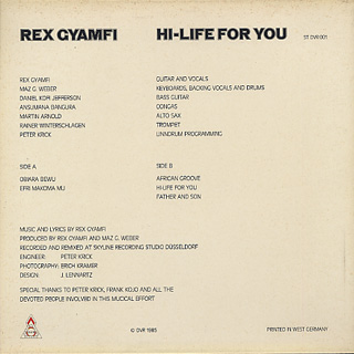 Rex Gyamfi / Hi-Life For You back