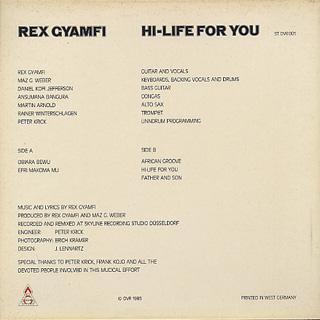 Rex Gyamfi / Hi-Life For You back