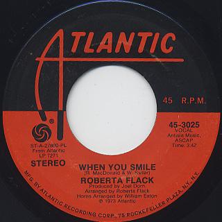 Roberta Flack / Feel Like Makin' Love (45) back