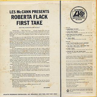 Roberta Flack / First Take back