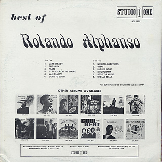 Rolando Alphanso / Best Of back