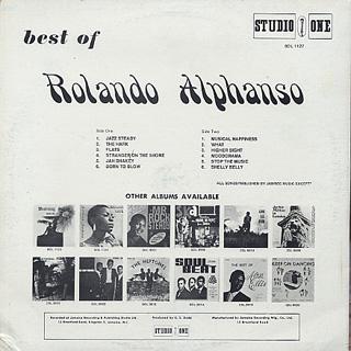 Rolando Alphanso / Best Of back
