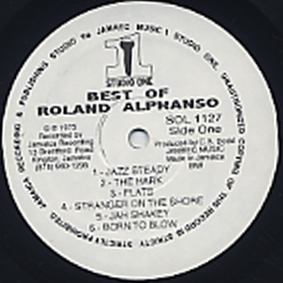Rolando Alphanso / Best Of label