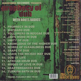 Roots Radics / Prophecy Of Dub back