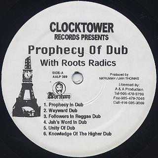 Roots Radics / Prophecy Of Dub label
