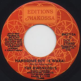 Rwenzori's / Handsome Boy (E Wara)