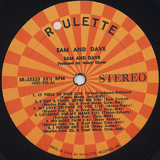Sam and Dave / S.T. label