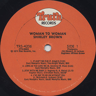Shirley Brown / Woman To Woman label