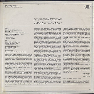 Sly and The Family Stone / Dance To The Music back