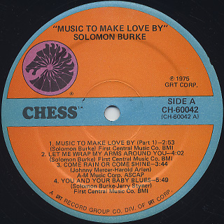 Solomon Burke / Music To Make Love By label