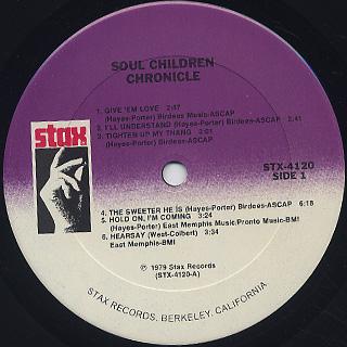 Soul Children / Chronicle label