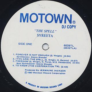 Syreeta / The Spell label