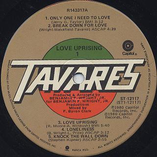Tavares / Love Uprising label