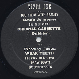 Tippa Lee / Dub Them With Reality label