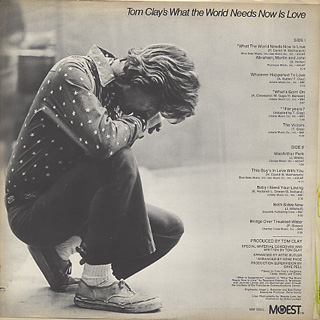 Tom Clay's / What The World Needs Now Is Love back